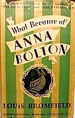 Cover of first U.S. edition of 'What Became of Anna Bolton?'
