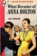 Cover of first U.S. paperback edition of 'What Became of Anna Bolton?'