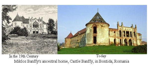 Bon?ida Banffy Castle - then and now