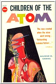 Cover of early U.S. paperback edition of 'Children of the Atom'
