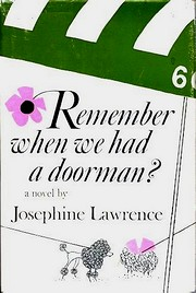 Cover of first U.S. edition of 'Remember When We Had a Doorman?'
