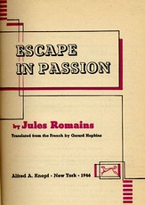 Cover of the first U.S. volume of 'Escape in Passion'