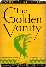 Cover of first U.S. edition of 'The Golden Vanity'