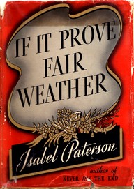 Cover of first U.S. edition of 'If It Prove Fair Weather'