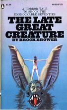 Cover of first U.S. paperback edition of 'The Late Great Creature'