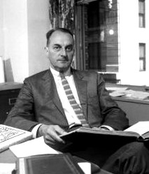Louis Auchincloss, around 1975, in his office