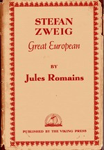 Cover of U.S. edition of 'Stefan Zweig Great European'