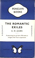 Cover of 1949 Penguin edition of 'The Romantic Exiles'