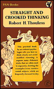 Cover of 1953 Pan Book issue of 'Straight and Crooked Thinking'