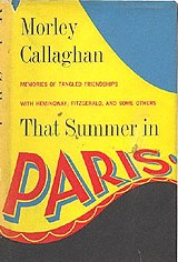 Cover of first U.S. edition of 'That Summer in Paris'