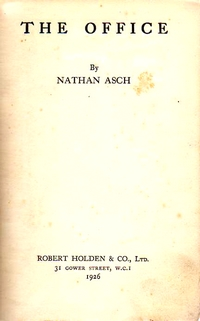 Title page of the first U.K. edition of 'The Office'