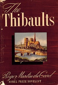 Cover from first U.S. edition of 'The Thibaults'