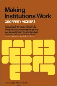 Cover of first edition of 'Making Institutions Work'