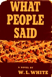 Cover of first U.S. edition of 'What People Said'