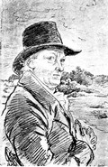 William Blake, a portrait sketch by John Flaxman