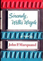 Cover of first edition of 'Sincerely, Willis Wayde'
