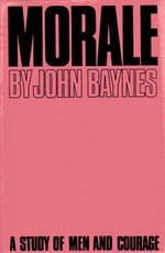 "Cover of first UK edition of 'Morale"" by John Baynes"