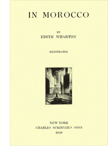 Title page of Edith Wharton's 'In Morocco'