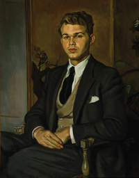 Portrait of Speed Lamkin by Jean de Gaigneron (circa 1948)