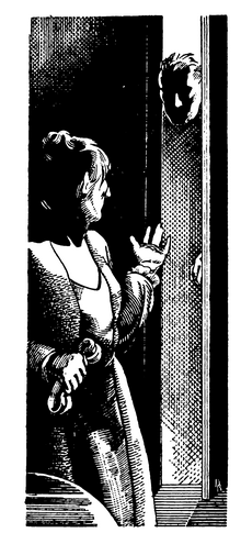 "One of David Berger's illustrations from Tiffany Thayer's ""Thirteen Women"""
