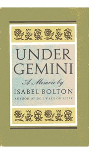Cover of first US edition of 'Under Gemini'