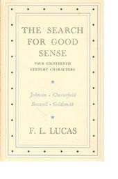 Cover of first U.K. edition of 'The Search for Good Sense'