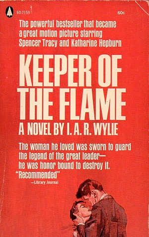 "Cover of Popular Library paperback edition of ""Keeper of the Flame"""