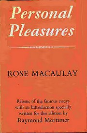 "Cover of 1968 reissue of ""Personal Pleasures"""