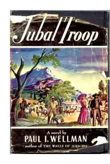 "Cover of first U. S. edition of ""Jubal Troop"""