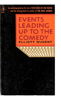 Cover of U.S. paperback edition of 'Events Leading Up to the Comedy'