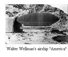 "Walter Wellman's airship, ""America"""