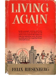 "Cover of first U. S. edition of ""Living Again"" by Felix Riesenberg"