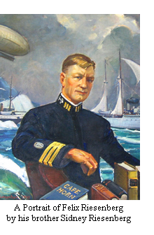 A portrait of Felix Riesenberg as Superintendent of the New York Nautical School