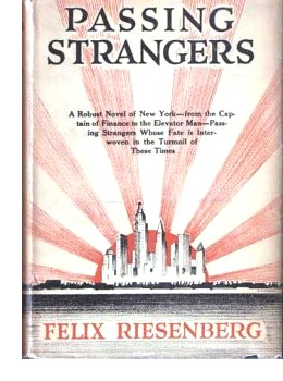 Cover of first U. S. edition of 'Passing Strangers' by Felix Riesenberg