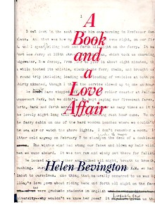 Cover of first U. S. edition of 'A Book and A Love Affair'
