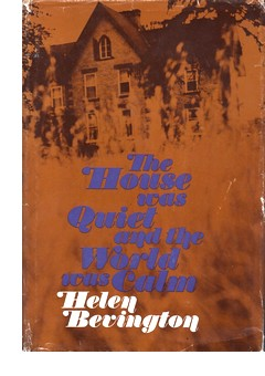 Cover of first U. S. edition of 'The House was Quiet and the World was Calm'