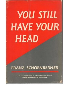 Cover of first US edition of 'You Still Have Your Head'