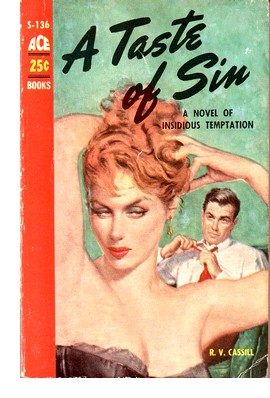 Cover of first edition of 'A Taste of Sin'
