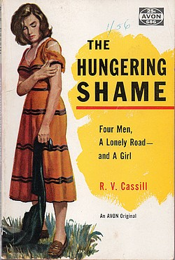 Cover of original Avon paperback edition of 'The Hungering Shame'