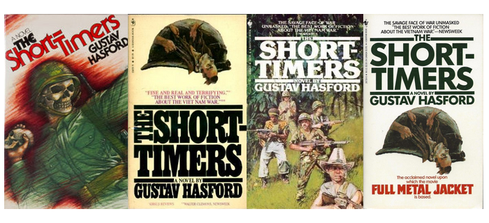 Covers of various editions of 'The Short-Timers'