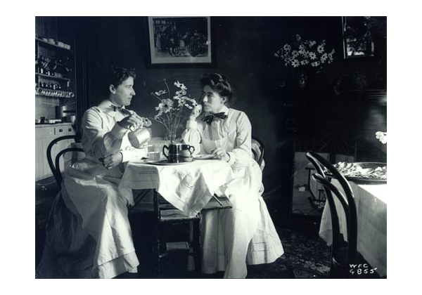 Women in tea-room
