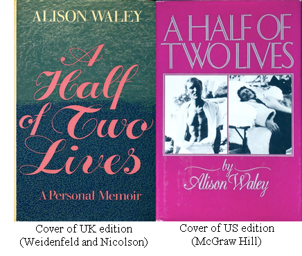 Covers of UK and US editions of 'A Half of Two Lives'