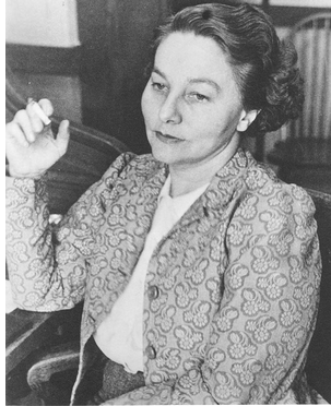 Genevieve Taggard in the 1940s while on the faculty of Sarah Lawrence