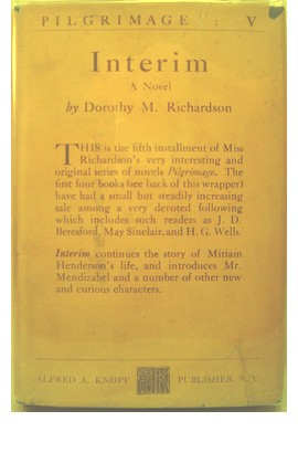 Cover of first US edition of Interim