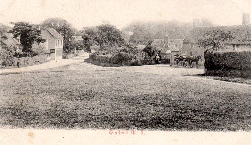 A 1907 photograph of Windmill Hill, near Herstmonceaux, East Sussex