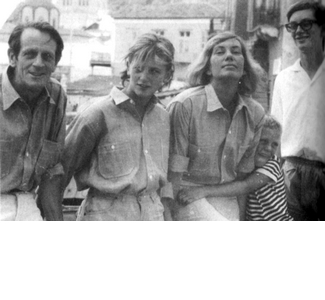 George Johnston and Charmian Clift and their children, shortly before leaving Hydra