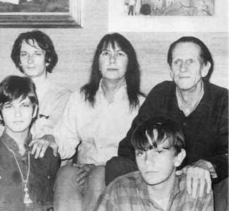 Clift and Johnston with their children in 1969, shortly before Clift's suicide