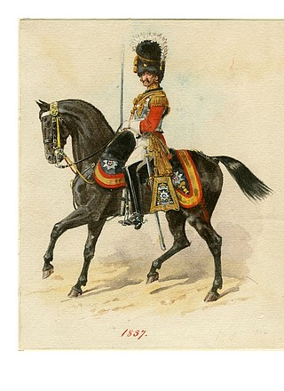 An officer in the Life Guards regiment, 1837