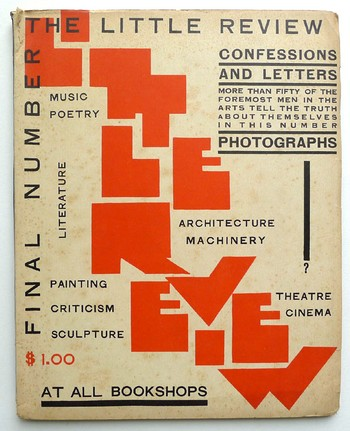 Cover of last issue of The Little Review