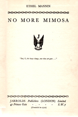 "Title page from ""No More Mimosa"""
